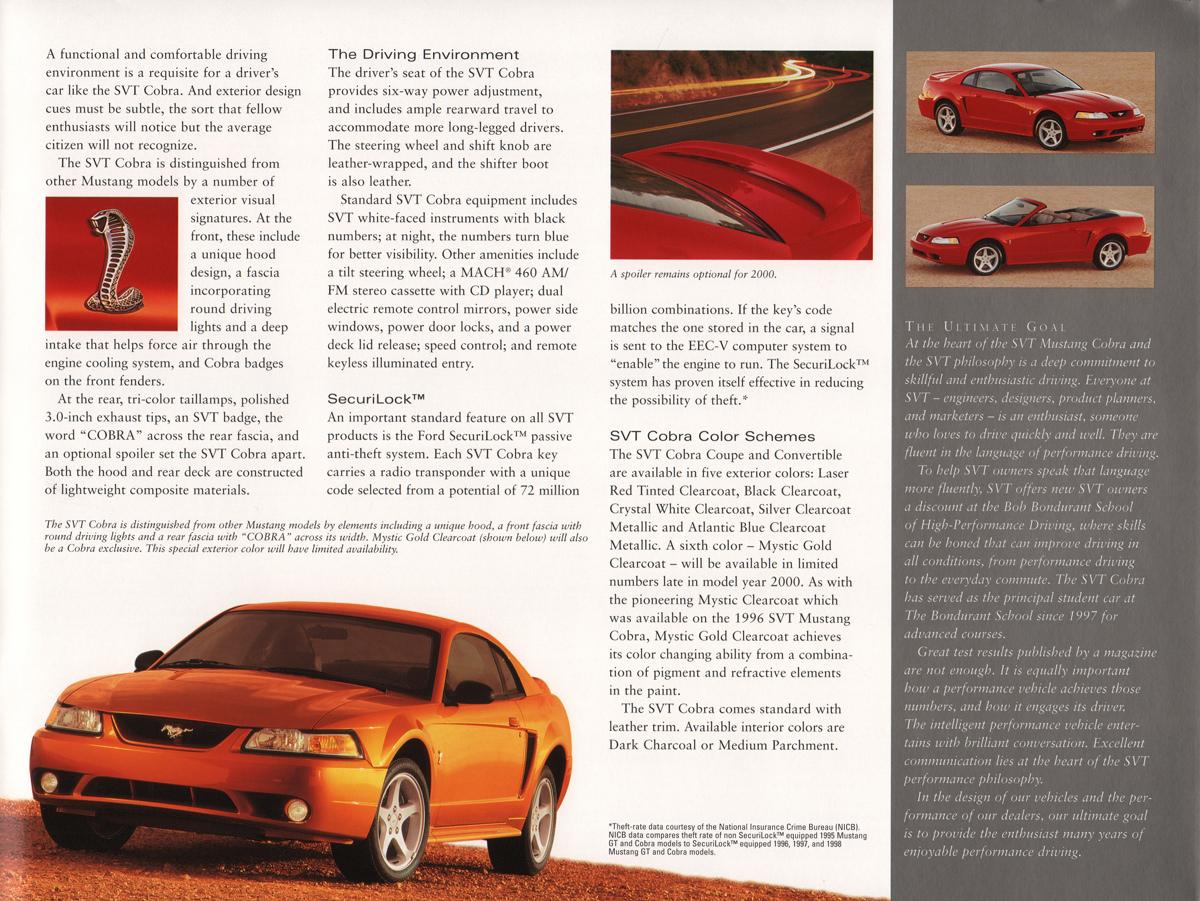 2000 Ford SVT Mustang Cobra Brochure