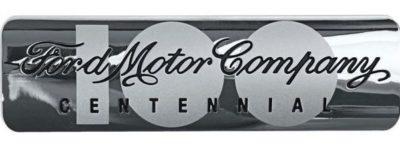 2003 Ford Motor Company Centennial Emblem