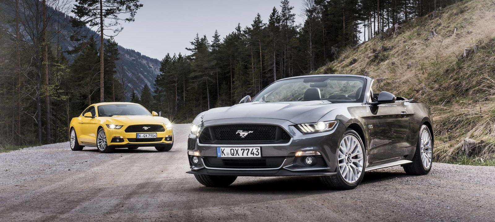 European 2015 Ford Mustangs